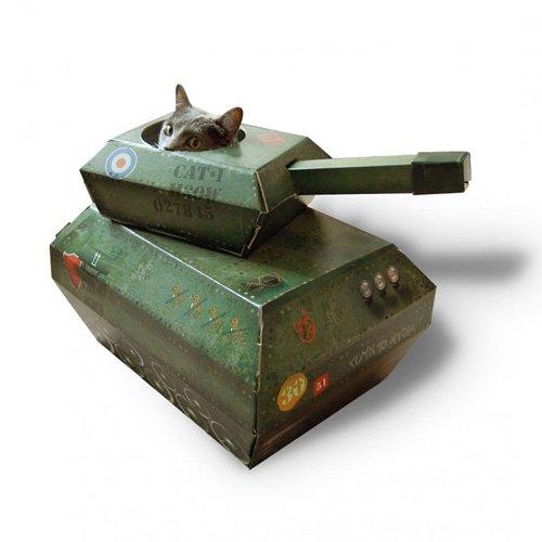 キャットプレイハウス猫戦車