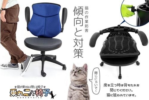 乗れニャ椅子!