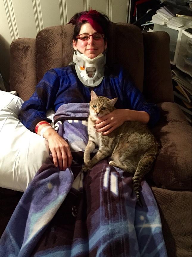 看病してくれる猫。