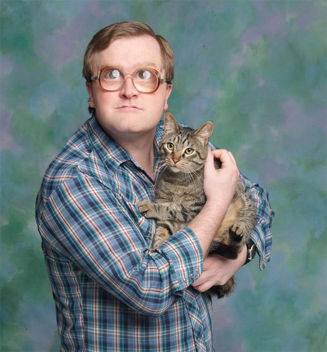 猫が好きすぎるのが伝わる1枚。