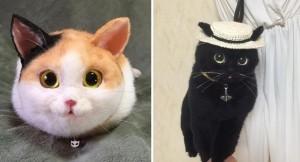 ネコ型バッグ