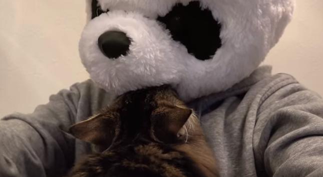 パンダにスリスリ!