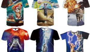 アマゾンの面白猫Tシャツ